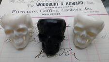 Cráneo Humano Grueso Anillo de mortalidad: Memento Mori: Negro Hueso Tallado A Mano (BOS)