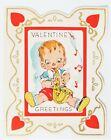 Vintage Valentine Card -- Big Band Era Jazz Sax Swing Era
