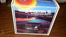 Vintage FuzzBuster Ii 1975 Multi-Band Radar Detector in Box Rare Works Great!