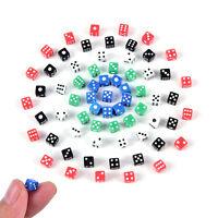 40pcs Standard 5mm Würfel Satz D6 Acryl für Spiel Spiel kleine Würfel XJ