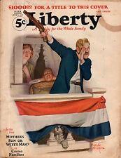 1926 Liberty July 3-Leslie Thrasher; Al Capone Gangster; Sax Rohmer; Wodehouse