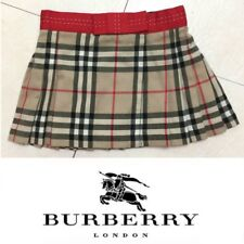 Burberry London Virgin Wool Blend Wrap Round Pleated Skirt Size 4Y/104CM