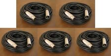 5 Lot - 50Ft XLR 3Pin Male Female Extension Mic Microphone Audio Cord Cable 50'