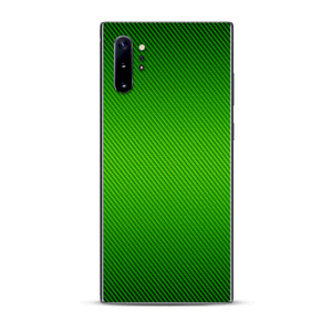 Skins Decal Wrap for Samsung Note 10 Plus Lime Green carbon fiber look