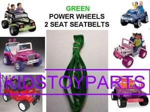 1X GREEN NOS Fisher Price Power Wheels ONE JEEP Seat Belt SET