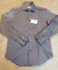 NWT MEN'S ROBERT GRAHAM FELIX BLACK DRESS SHIRT SIZE 38/15 NEW MSRP $148