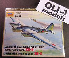 1/200 Soviet High Speed Bomber Tupolev SB-2 (Avia B-71) - Zvezda 6185