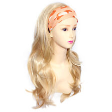 Wiwigs Blonde Mix Long Layered Wavy 3/4 Fall Hairpiece Half Ladies Wig