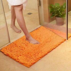 1 Pc Bathroom Carpet Anti-slip Bath Rug Outdoor Shower Room Rugs Chenille Bathro