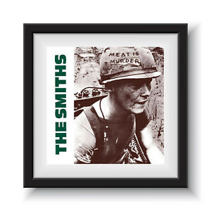 """The Smiths - Meat is Murder   12"""" Album Cover - Framed 16"""" x 16"""""""