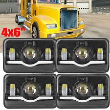 4PCS LED Headlights For Freightliner Kenworth Ford 4x6'' Light Hi/Lo Sealed Beam