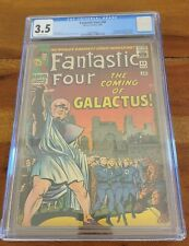 Fantastic Four #48 1966 CGC 3.5 OW Pages 1st Silver Surfer and Galactus