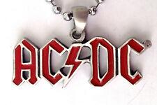 AC/DC HEAVY METAL ROCK PENDANT MENS BOYS NECKLACE CHAIN    BPC 082