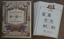 Charles & Diana Royal Wedding Album Cont'g Sets, Booklets. Souvenir Sheets,