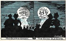 POSTCARD  COMIC    The  Old  Old  Story  ...  The same old  game