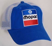 Hat Cap Mopar 1972 Logo White Mesh Blue Trucker Dodge Chrysler Plymouth Jeep CF