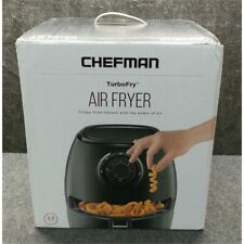Chefman TurboFry Analog Air Fryer 3.5 L, Matte Black