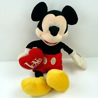 "Disney Store Mickey Mouse Love Plush Stuffed Animal Genuine Authentic 18"" G51"