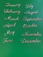 Months Of The Year Die Cuts