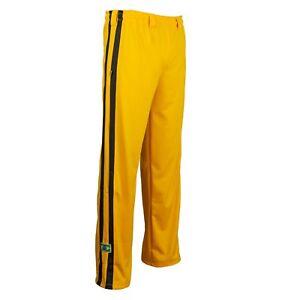 Unisex Yellow Brazil Capoeira Abadas Martial Arts Elastic Trousers Pants 6 Sizes