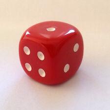 Würfel Cube Dice für Bastler Schmuck ca. 20 mm Kette Mode 2 cm Game Spiel rot