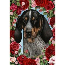 Roses House Flag - Bluetick Coonhound 19193