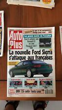 AUTO PLUS n°97  de 1990 -la nouvelle Ford Sierra s'attaque aux françaises-ca67