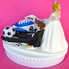 Wedding Cake Topper Real Madrid CF Club de Futbol Themed Soccer Shoe Ball Funny