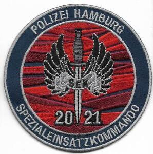 SEK Polizei  Hamburg  SPEZIALEINSATZKOMMANDO 2021 Abzeichen Patch SWAT BFE GSG-9