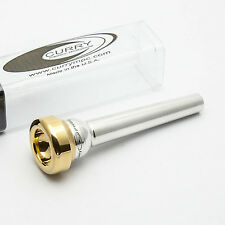 Genuine Curry Standard Series 1.5STAR 24K Gold Rim & Cup Trumpet Mouthpiece NEW
