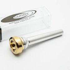 Genuine Curry Standard Series 10.5DE 24K Gold Rim & Cup Trumpet Mouthpiece NEW