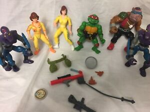 Teenage Mutant Ninja Turtles Retro Job Lot Vintage 1980's