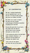 MY CONFIRMATION VERSE CARD - RELIGIOUS CATHOLIC STATUES CANDLES PICTURES LISTED