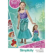 Simplicity Sewing Pattern 8725 Children's & Doll Disney Ariel Costume Pattern