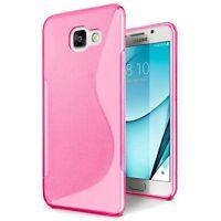 Samsung Galaxy A3 2017 Handy Tasche Handyhülle Silikon S-Line Case Pink ..