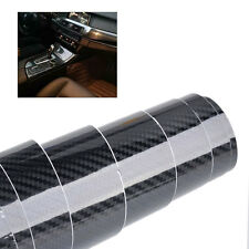 "60""x12"" 5D Shiny Gloss Black Carbon Fiber Car Laptop Wrap Sticker Film Decal DIY"