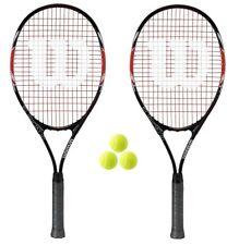 2 x Wilson Fusion XL Tennis Rackets + 3 Balls RRP £100