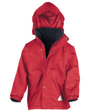 Result Children's Reversible Storm Stuff Jacket - Kids Unisex coats - Size 13-14