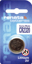 10 x Renata CR2320 Watch Batteries, 3V Lithium, 2320 3 Volts