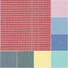 Tessuto zephir - vichy puro cotone H150 quadretto mm. 2x2 vendita da mezzo metro