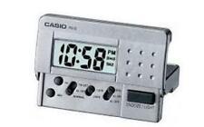 Casio Grey Digital Led Travel Alarm Clock PQ10D-8