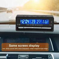 Numérique LCD Écran Voiture Digital Horloge Thermomètre Température Voltmètre