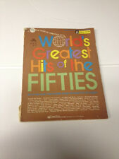 Worlds Greatest Hits of the Fifties for all Organs Music Book Free Shipping