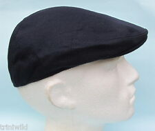 Flat Cap Dark Navy Blue Wool