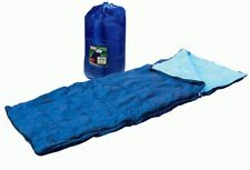 SINGLE SLEEPING BAG CAMPING CARAVAN WINTER WARM ADULT SIZE - CARRY BAG FREE POST