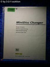 Sony Operating Instructions MDX 62 Mini Disc changer (#1350)