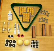 Lot of Pool Billiard Items 3 Dozen  GOLD Chalk Crazy and Regular Cue Ball,+MORE