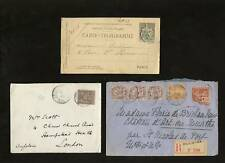 FRANCE 1875-1919 COVERS + CARDS...ODD LOT...10 ITEMS