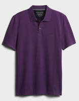 Banana Republic Men's Short Sleeve Birdseye Organic Cotton Pique Polo Shirt PPL
