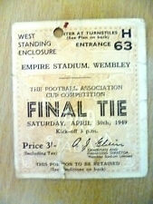 Tickets- 1949 FA Cup FINAL Wolves v Leicester (Original)